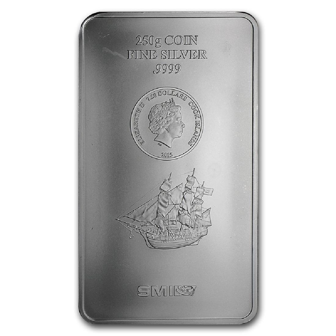 Genuine 250 gram Fine Silver Bar - Cook Islands Bounty