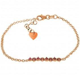 Genuine 1.55 ctw Ruby Bracelet Jewelry 14KT Rose Gold -