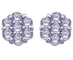 0.43 CTW Diamond Stud Earring in 14K White Gold