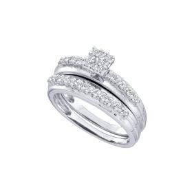 0.5 CTW Natural Diamond Cluster Bridal Engagement Ring
