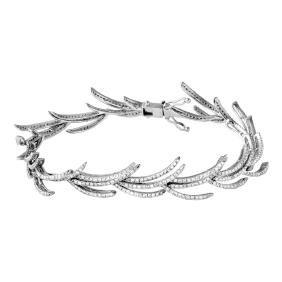 3.01 CTW Diamond Link  Bracelet in 14K White Gold