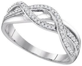 0.2 CTW Natural Diamond Infinity Band 10K Yellow Gold -