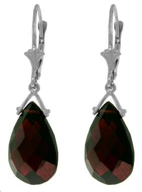 Genuine 10.20 ctw Garnet Earrings Jewelry 14KT White