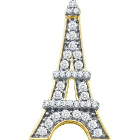 0.33 CTW White Diamond Eiffel Tower French France