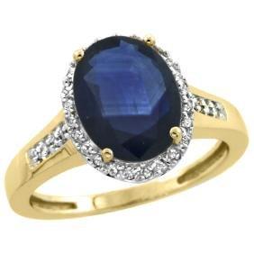 Natural 2.49 ctw Blue-sapphire & Diamond Engagement
