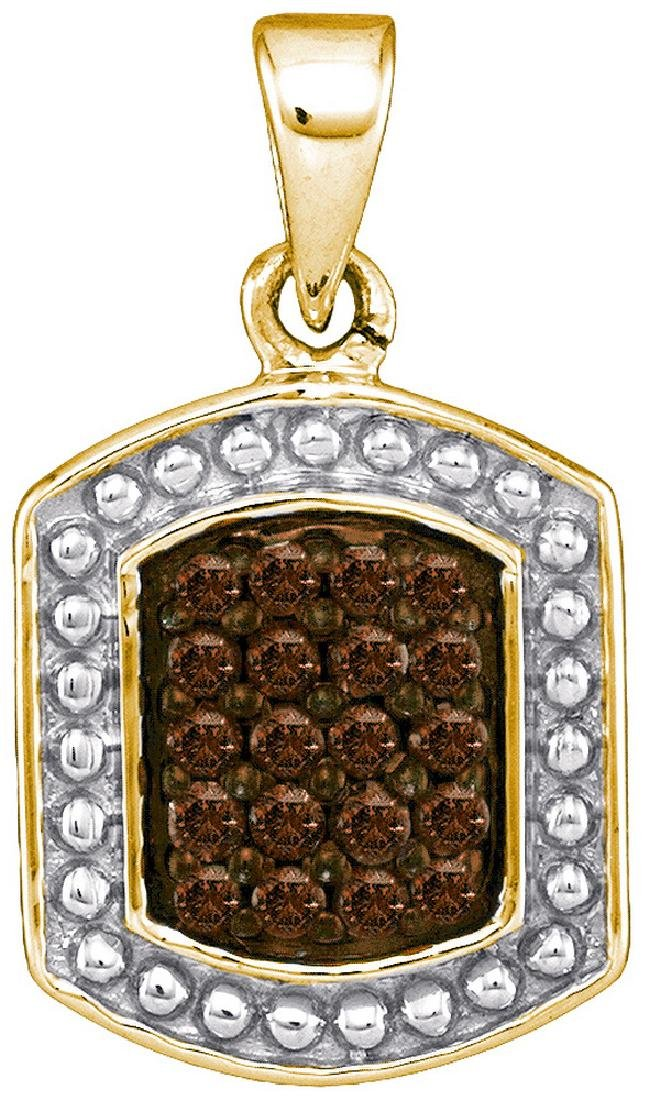 0.2 CTW Cognac-brown Colored Diamond Cluster Tag