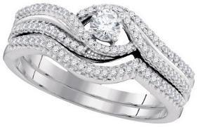 0.38 CTW Natural Diamond Bridal Engagement Ring 10K