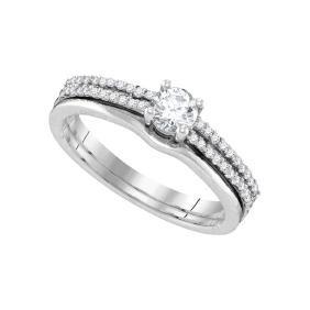 0.5 CTW Natural Diamond Bridal Engagement Ring 14K