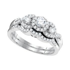 0.63 CTW Natural Diamond Bridal Engagement Ring 10K