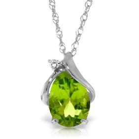 Genuine 2.13 ctw Peridot & Diamond Necklace Jewelry