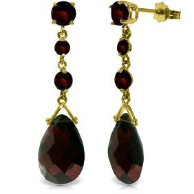 Genuine 13.2 ctw Garnet Earrings Jewelry 14KT Yellow
