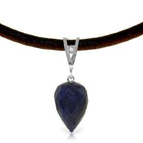 Genuine 13.01 ctw Sapphire & Diamond Necklace Jewelry