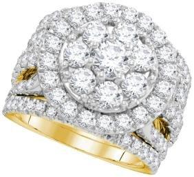 4.01 CTW Natural Diamond Certified Halo Bridal