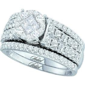 1.50 CTW Princess Diamond Soleil Bridal Engagement Ring