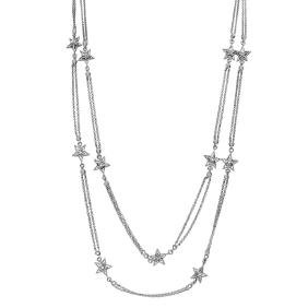0.9 CTW Diamond  Necklace in 18K White Gold