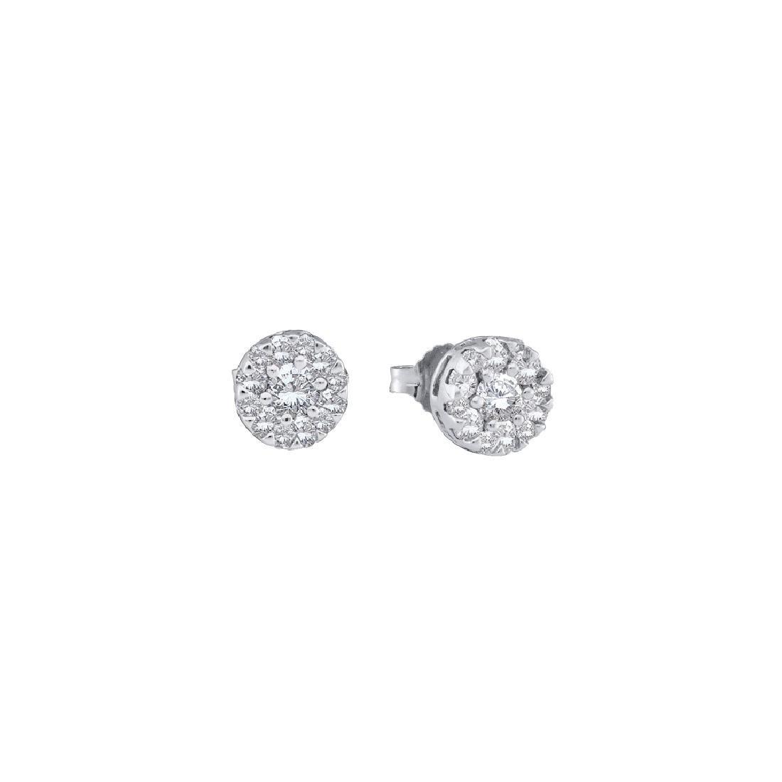 0.25 CTW Natural Diamond Stud Screwback Earrings 14K
