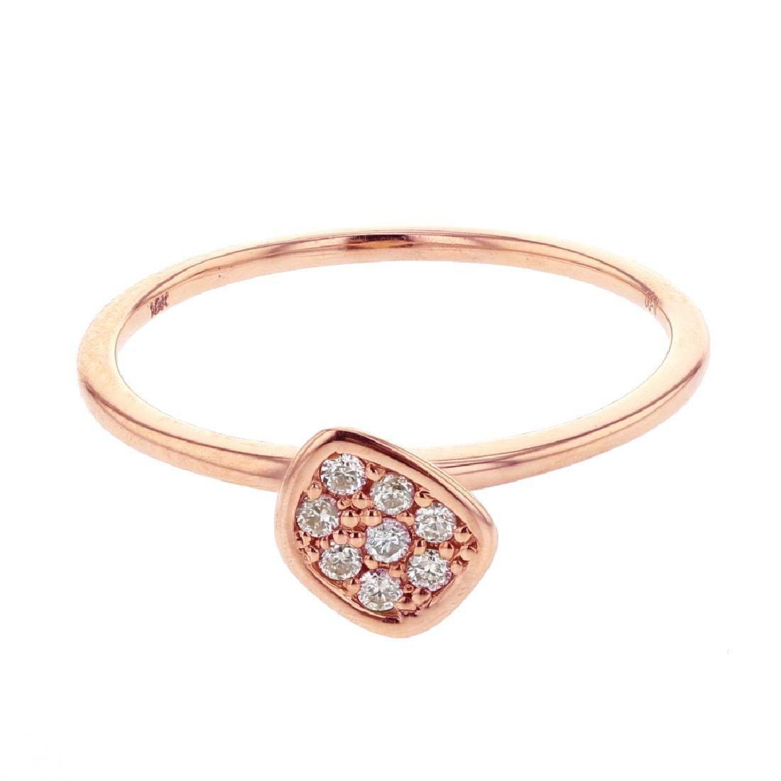 0.11 CTW Diamond Fashion  Ring in 18K Rose Gold
