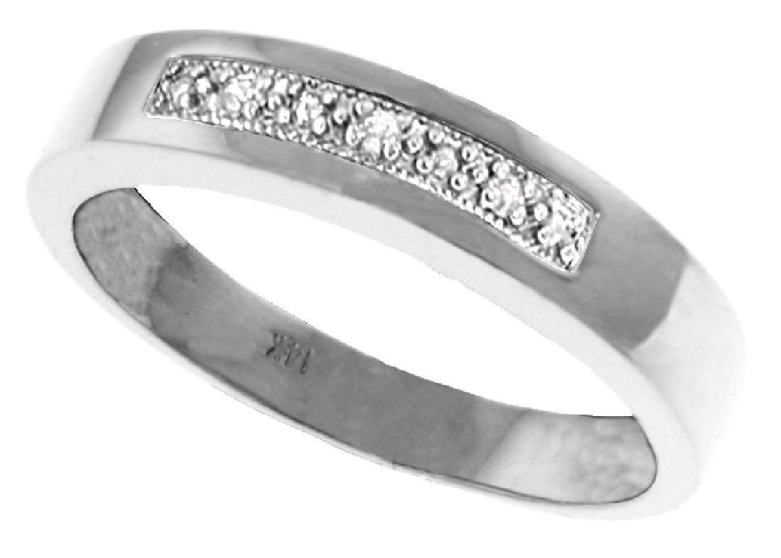 Genuine 0.02 ctw Diamond Anniversary Ring Jewelry 14KT