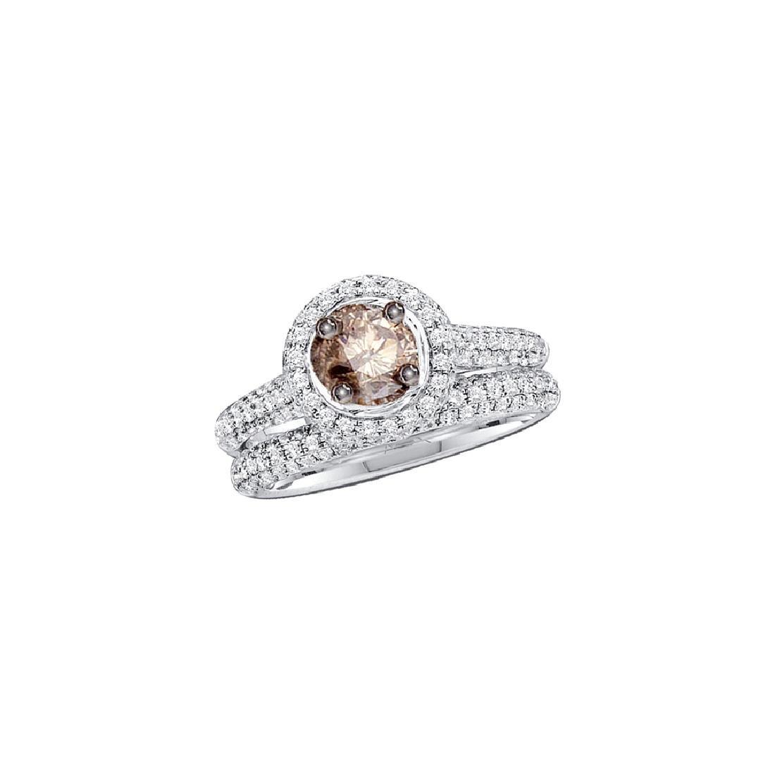 1.23 CTW Cognac-brown Diamond Solitaire Bridal