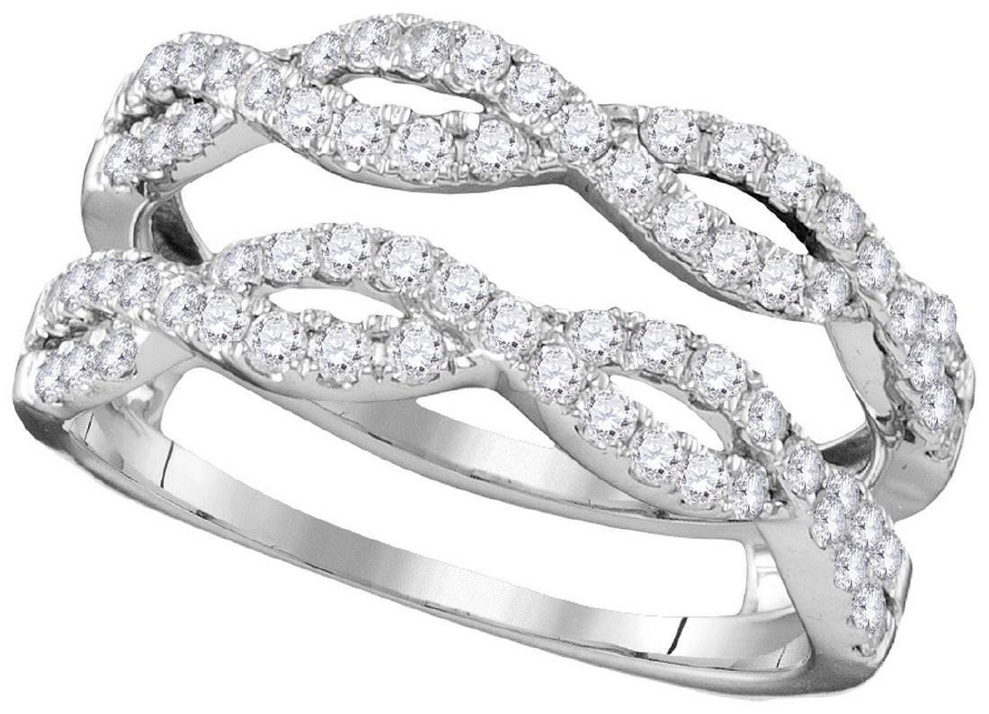0.75 CTW Natural Diamond Ring 14K White Gold -