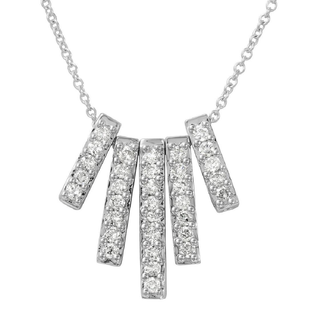 0.5 CTW Diamond Slider w/ Chain Necklace in 14K White