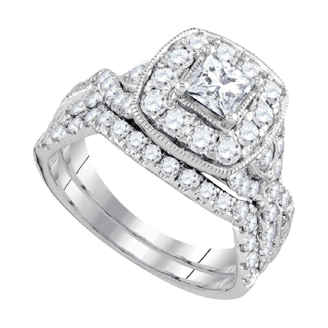 1.97 CTW Princess Natural Diamond Bridal Engagement