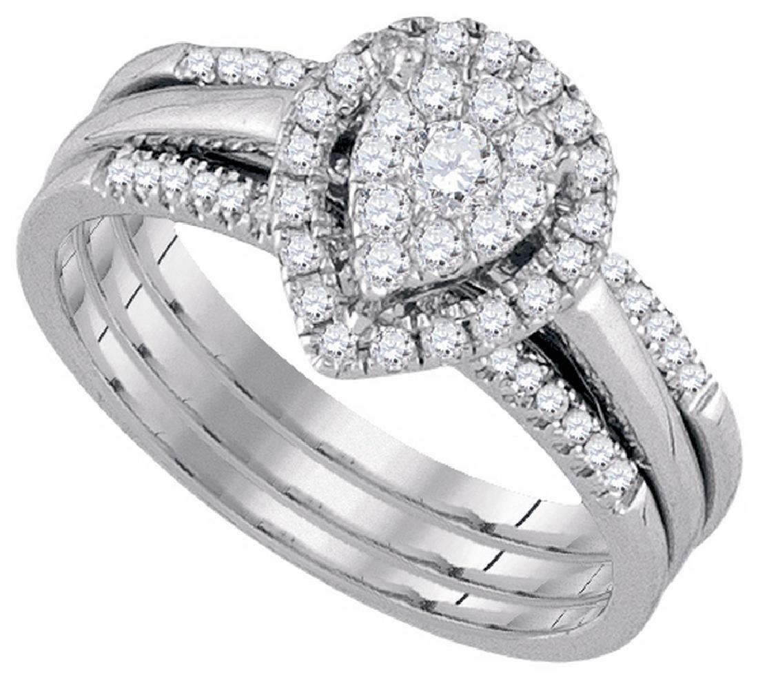 0.5 CTW Natural Amour Diamond Bridal Engagement Ring