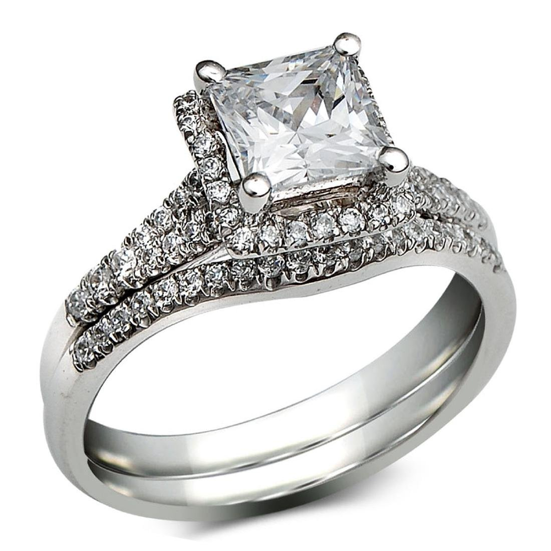 0.38 CTW Diamond Engagement  Ring in 14K White Gold