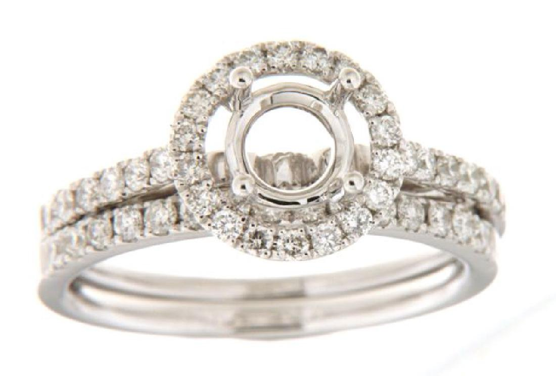 0.63 CTW Diamond Engagement  Ring in 14K White Gold