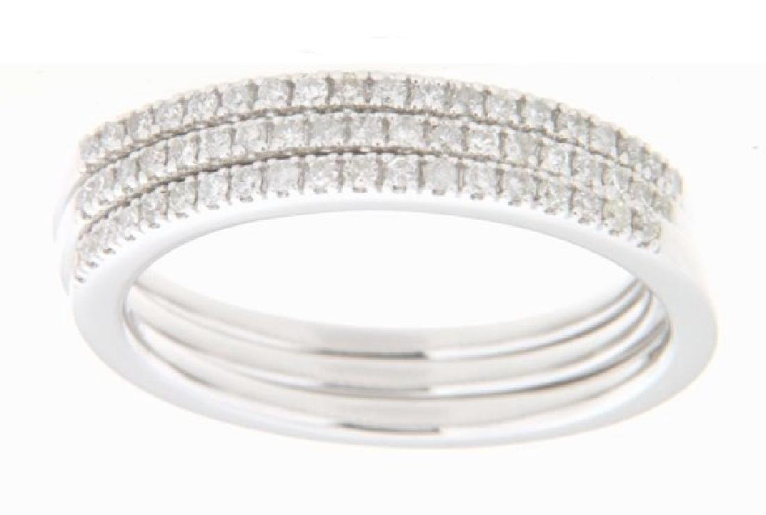 0.31 CTW Diamond Stack  Ring in 14K White Gold
