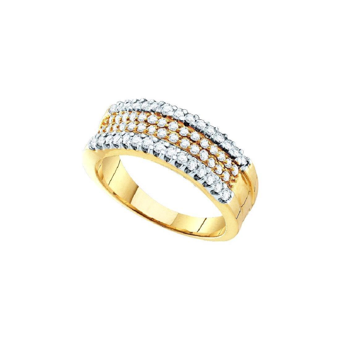 0.75 CTW Natural Pave-set Diamond Daily Fine Band 14K