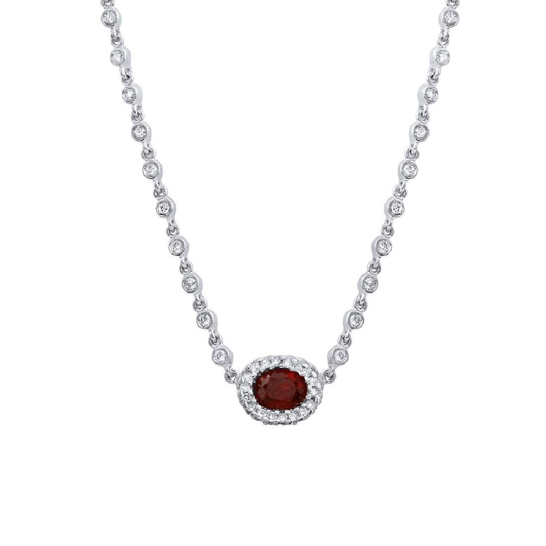 2.65 CTW Diamond Chain  Necklace in 14K White Gold