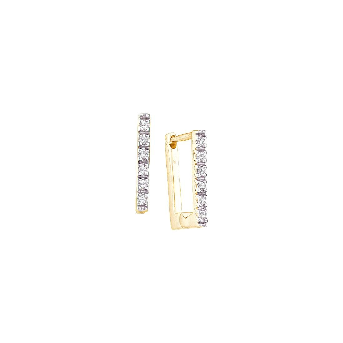 0.06 CTW Natural Diamond Classic Square Rectangle-shape