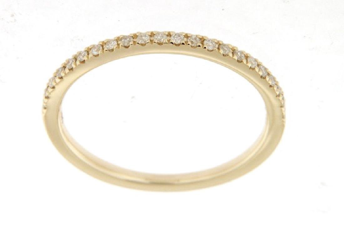 0.13 CTW Diamond Wedding Band  Ring in 14K Yellow Gold