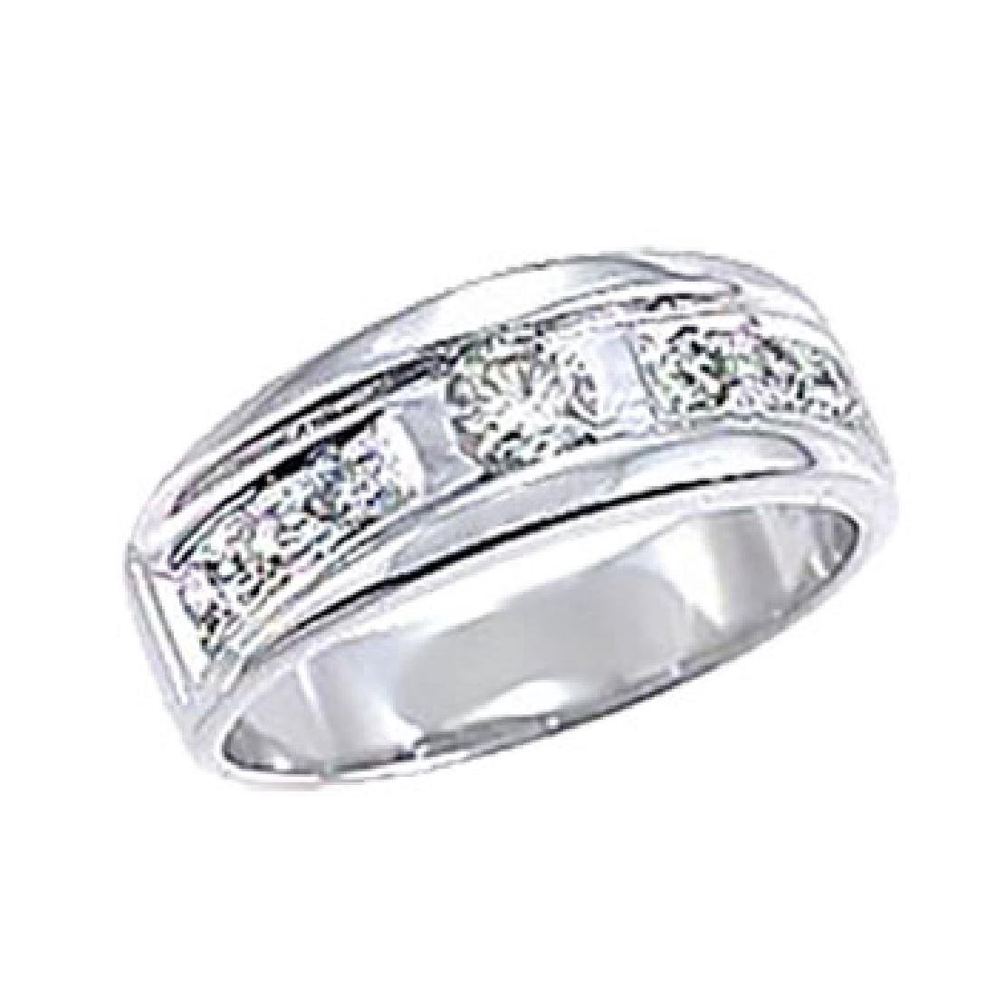 0.46 CTW Diamond Wedding Band  Ring in 14K White Gold