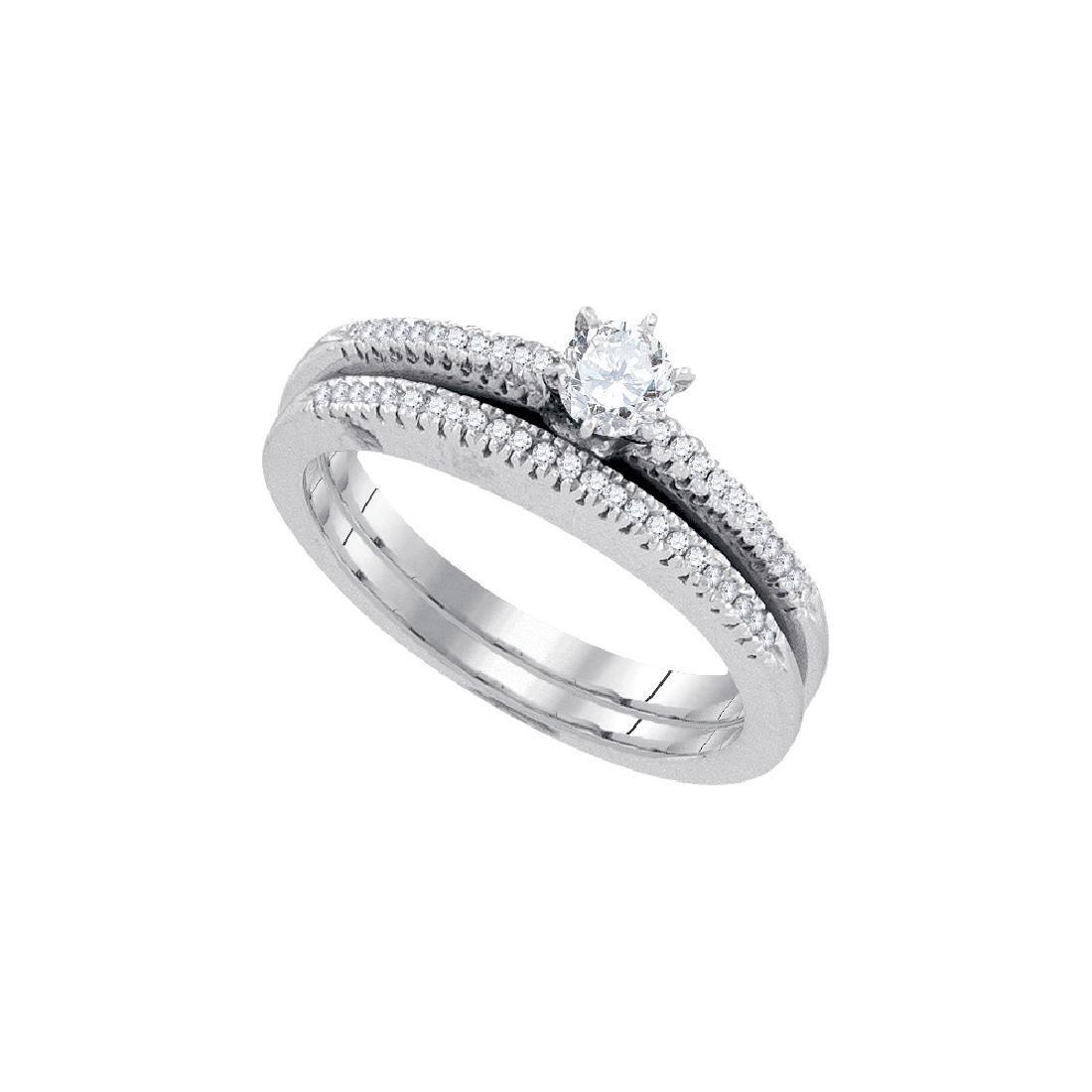 0.33 CTW Natural Diamond Solitaire Bridal Engagement