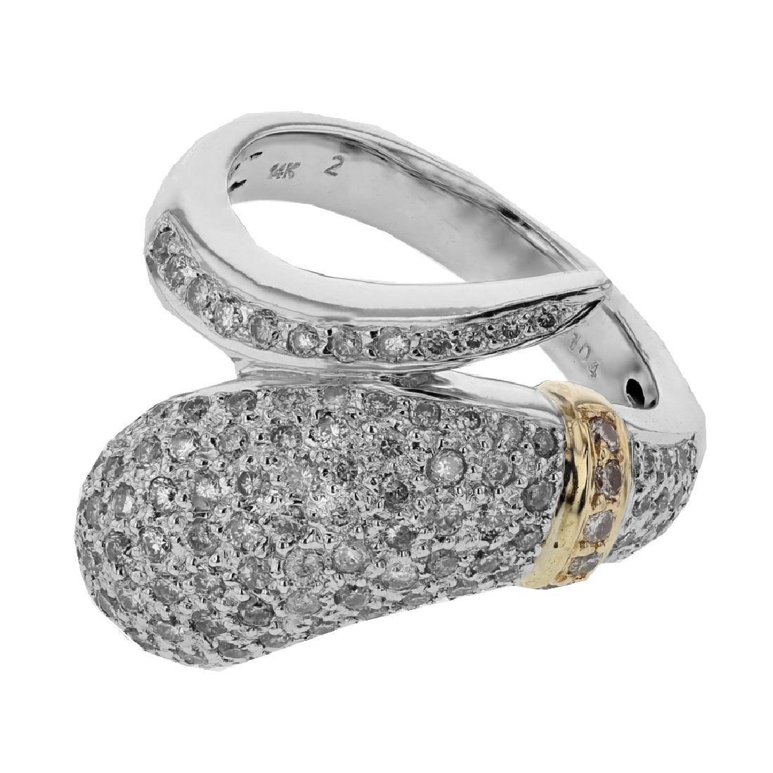 1.04 CTW Diamond Fashion  Ring in 14K Two Tone Yellow
