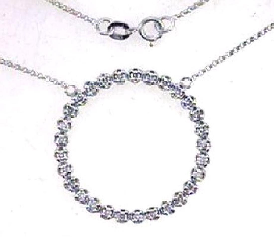 0.8 CTW Diamond Chain  Necklace in 18K White Gold