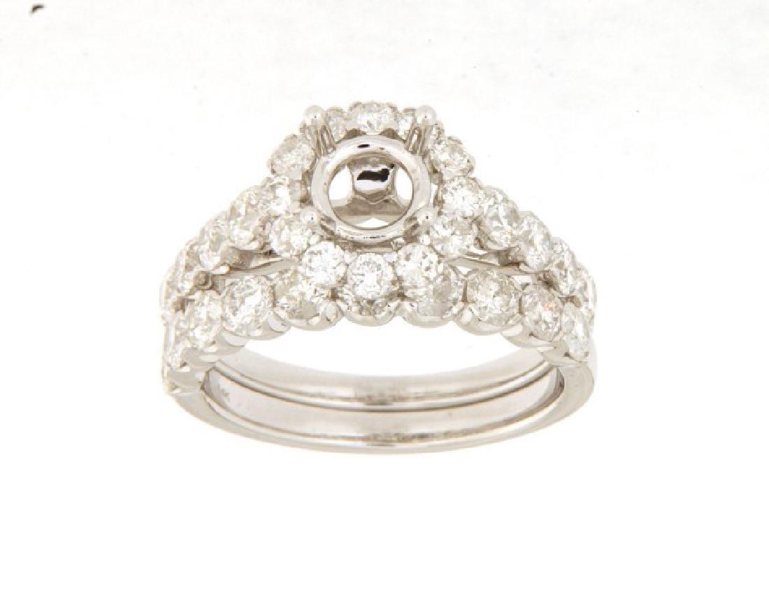 2.14 CTW Diamond Engagement  Ring in 14K White Gold