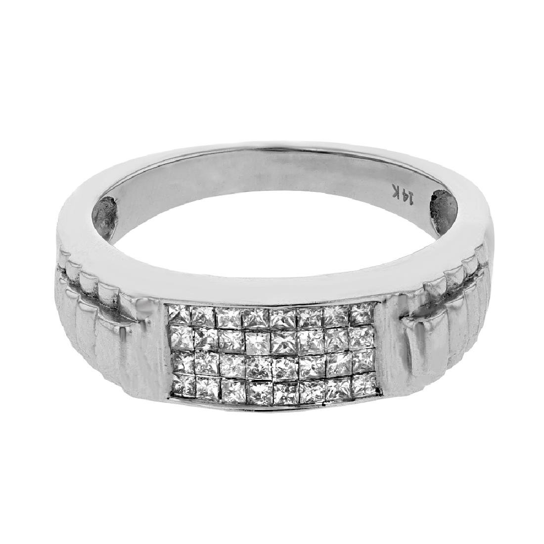 0.53 CTW Diamond Gents  Ring in 14K White Gold