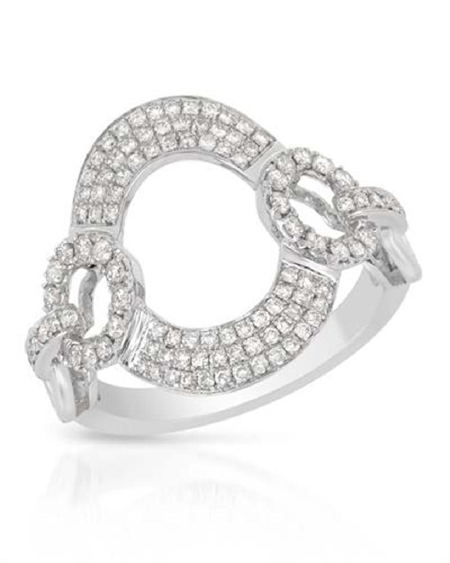 0.61 CTW Diamond Fashion  Ring in 14K White Gold