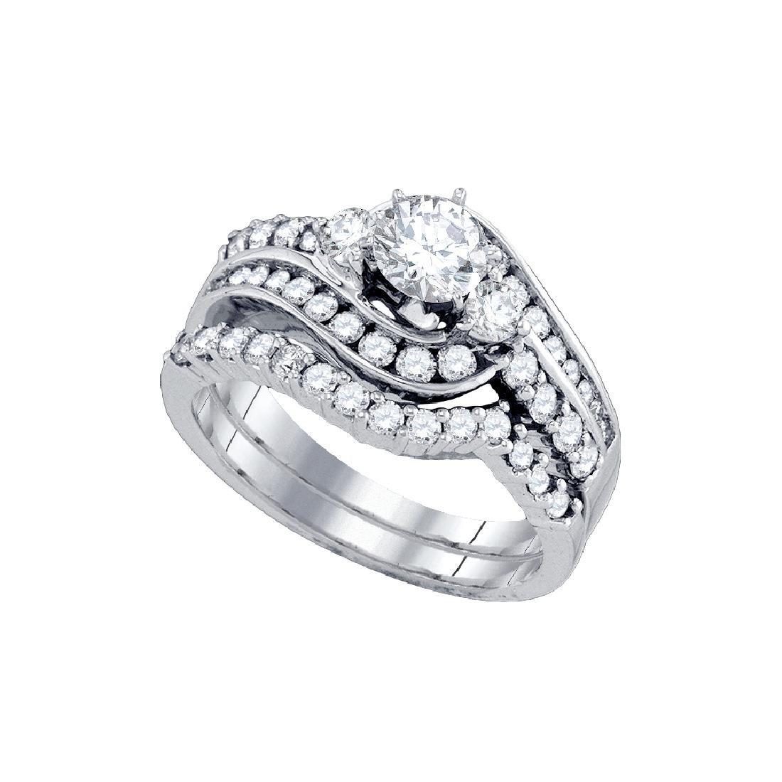 1.50 CTW Natural Diamond Bridal Engagement Ring 14K