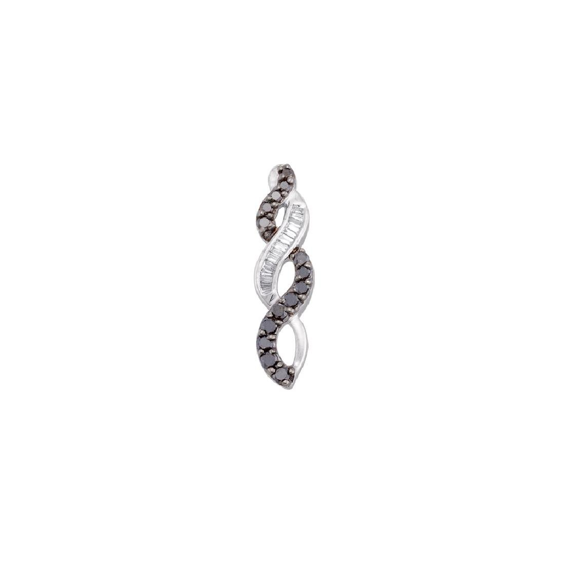 0.33 CTW Black Colored Diamond Infinity Woven