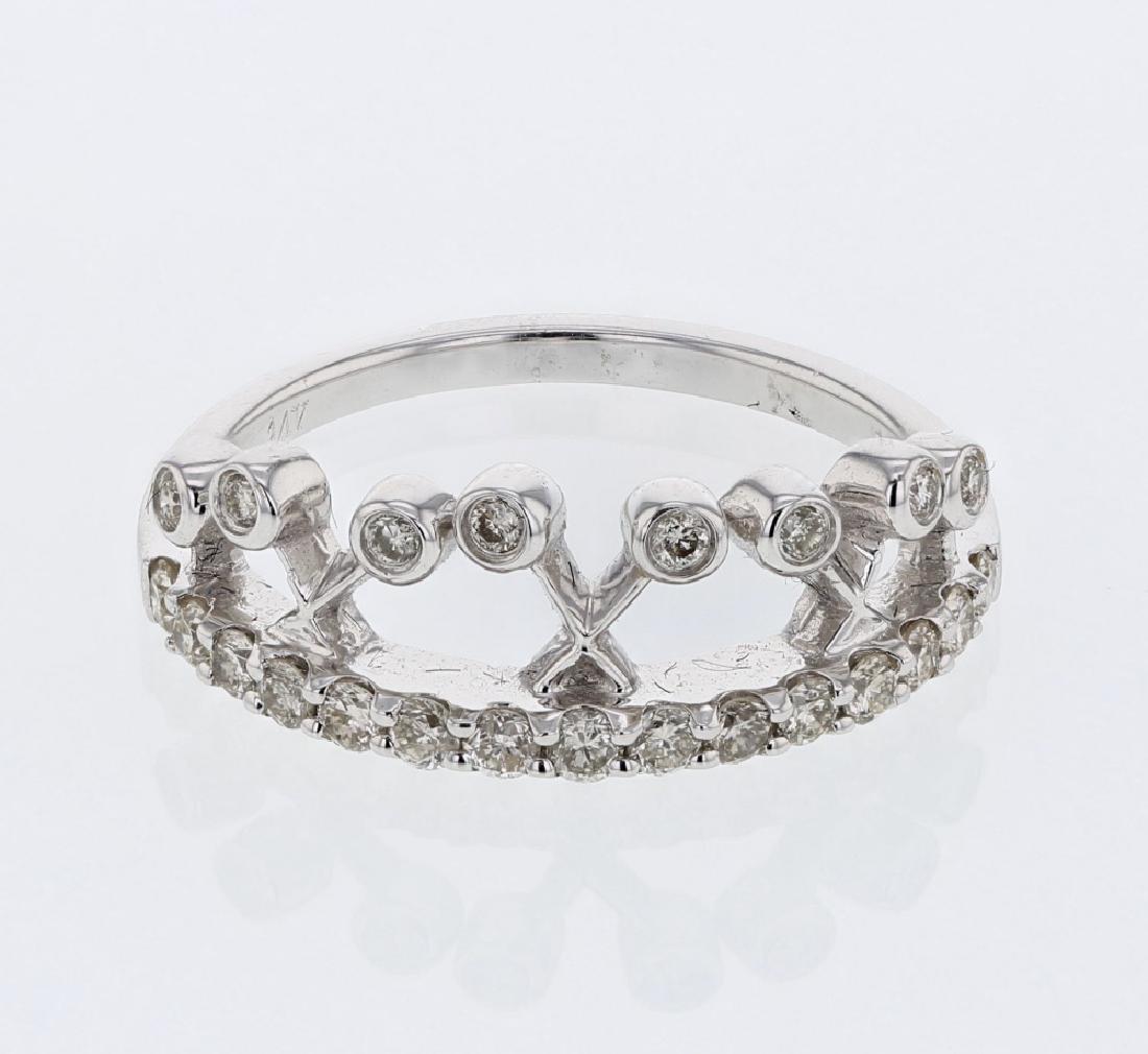 0.47 CTW Diamond Fashion  Ring in 14K White Gold