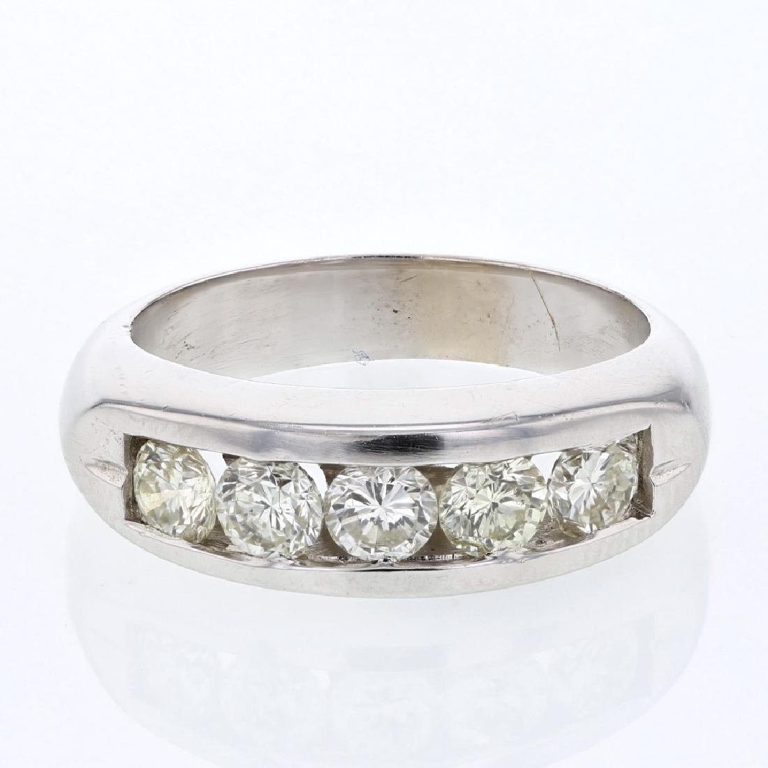 1.28 CTW Diamond Fashion  Ring in 14K White Gold