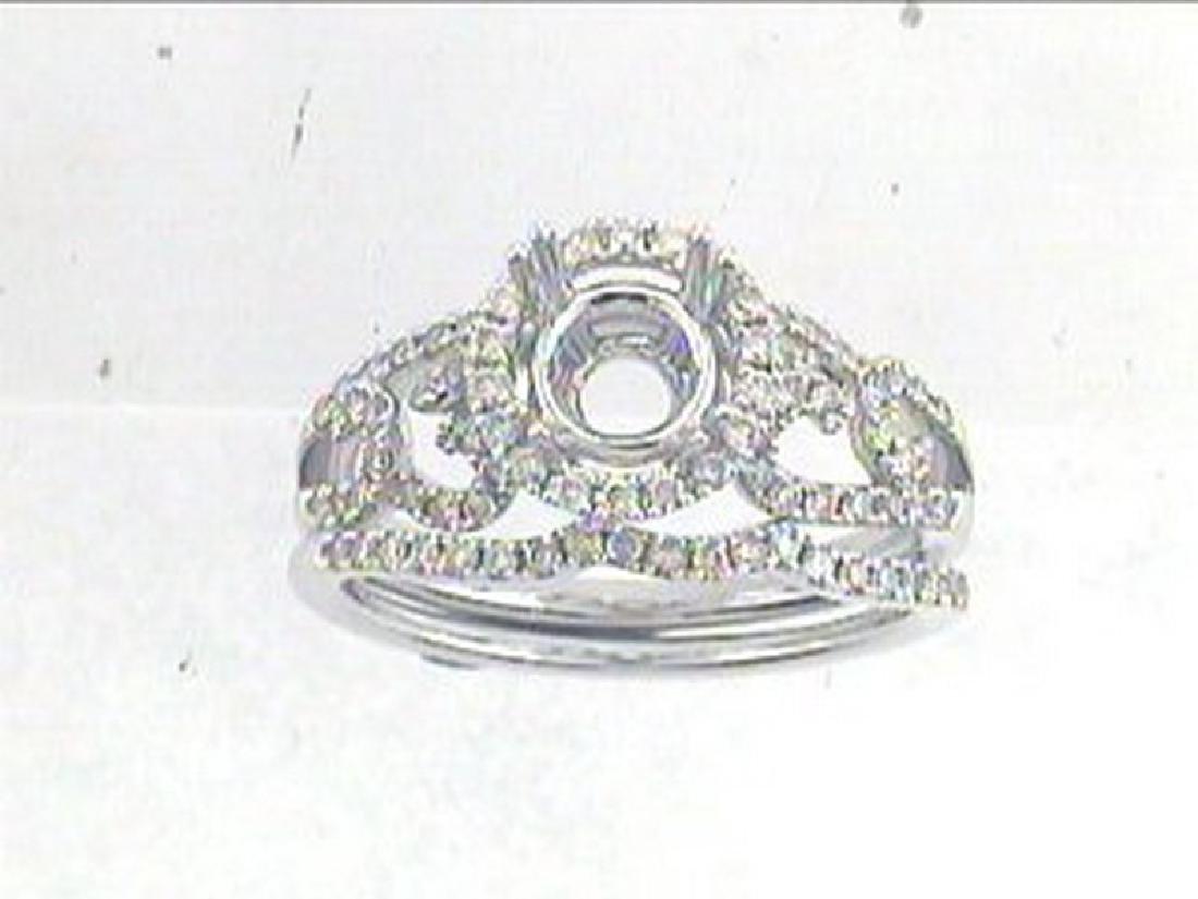 0.53 CTW Diamond Engagement  Ring in 14K White Gold