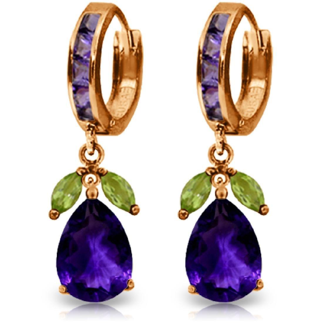Genuine 14.3 ctw Multi-gemstone Earrings Jewelry 14KT