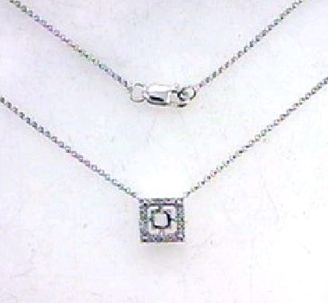 0.13 CTW Diamond Semi Mount  Necklace in 14K White Gold