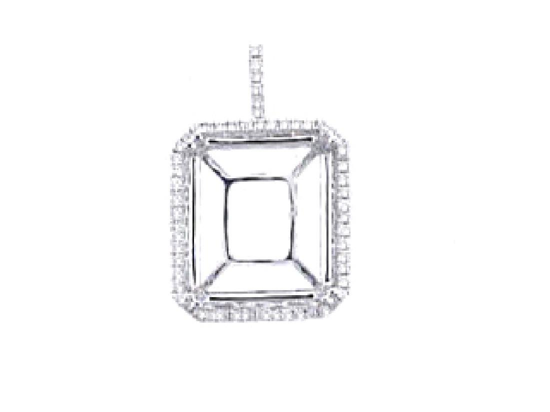 0.24 CTW Diamond Semi Mount  Necklace in 14K White Gold