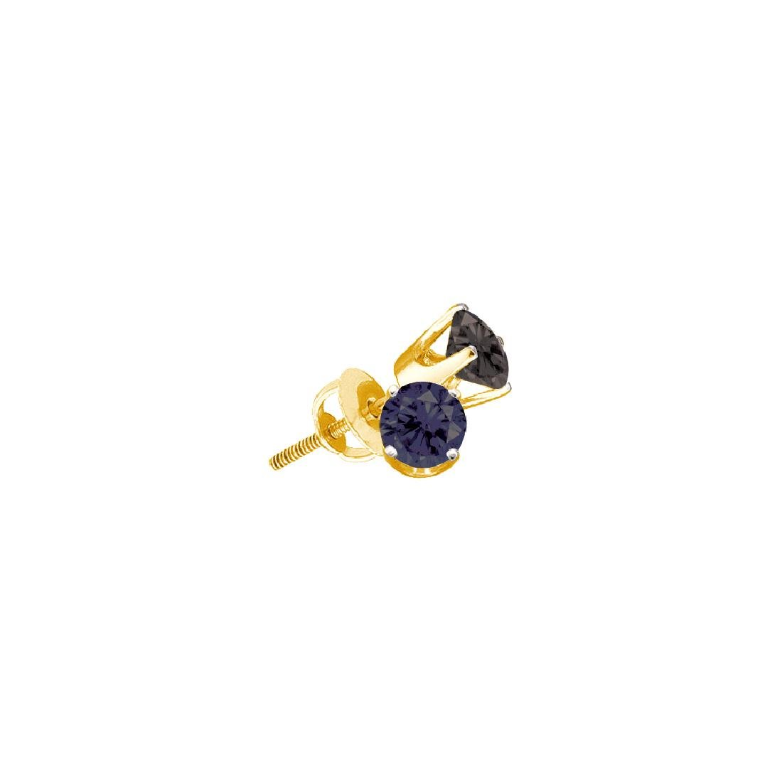 0.75 CTW Black Colored Diamond Solitaire Earrings 14K